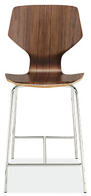 Pike Counter Stool with Metal Base