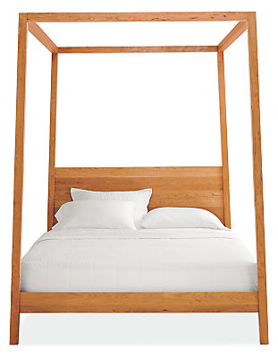 Hale Wood Canopy Bed Modern Beds Platform Bedroom Furniture Room Board