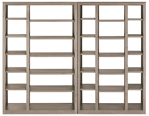Woodwind 92w 17d 72h Open Back Wall Unit Bookcases Delivered As Individual Units