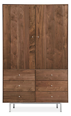 Hudson 44w 20d 71h Armoire with Steel Base