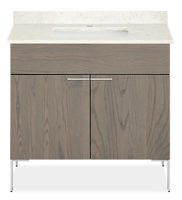 Kenwood 36w 21.75d 34h Bathroom Vanity with Left & Right Side Overhang