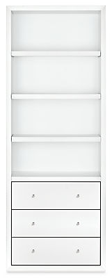 Lennox 32w 17d 86h Three-Drawer Bookcase