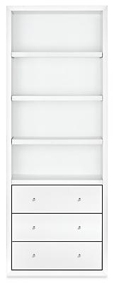 Lennox 32w 17d 86h Three-Drawer Bookcase