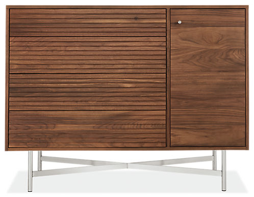 Adrian 54w 20d 42h Four-Drawer/One-Door Dresser
