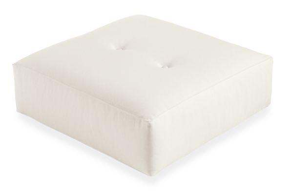 Custom 24w 24d 9h Button Floor Throw Pillow