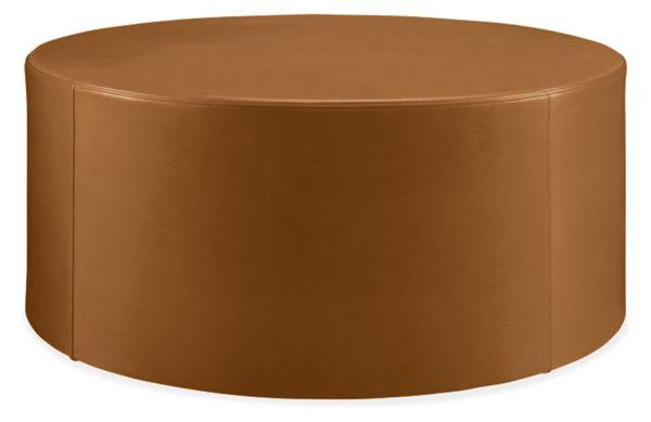 Astonishing Aero Leather Round Ottomans Lamtechconsult Wood Chair Design Ideas Lamtechconsultcom