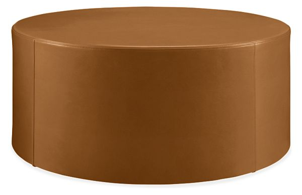 Pleasing Aero Leather Round Ottomans Gmtry Best Dining Table And Chair Ideas Images Gmtryco