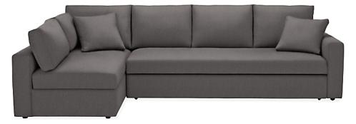"""Aldrich 125"""" Pop-up Sleeper Sofa with Left-Arm Storage Chaise"""