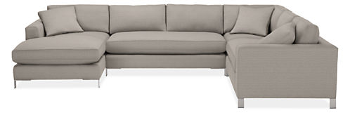 "Altura 148x114"" Four-Piece Sectional with Left-Arm Chaise"