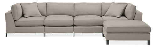 "Altura 148x84"" Five-Piece Modular Sofa with Ottoman"