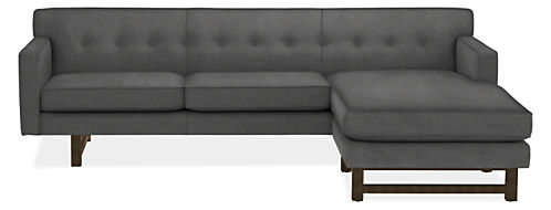"André 101"" Sofa with Reversible Chaise"
