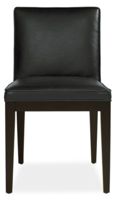 ansel leather dining chairs - modern dining chairs - modern dining