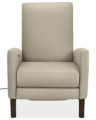 Arlo Custom Select Power Recliner Curved-Arm with Wood Base