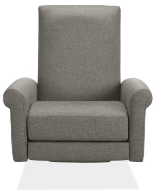 Arlo Custom Select Recliner Rolled-Arm with Wood Base