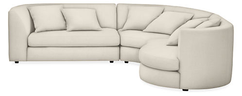 "Astaire 110x100"" Three-Piece with Left-Arm Sofa Sectional"
