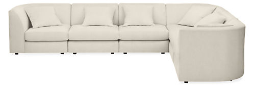 "Astaire 138x106"" Six-Piece Modular Sectional"