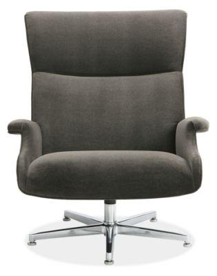 Beau Custom Swivel Chair with Aluminum Base