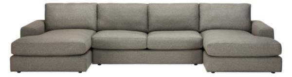 "Beckett 148x60"" Three-Piece U-Shaped Sectional"