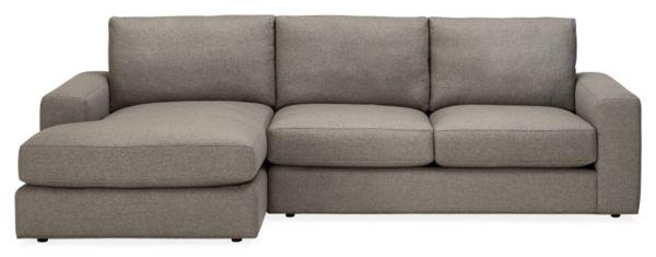 """Beckett Custom 107"""" Sofa with Left-Arm Chaise"""