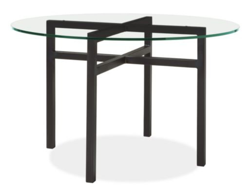 benson dining tables in natural steel - modern dining tables
