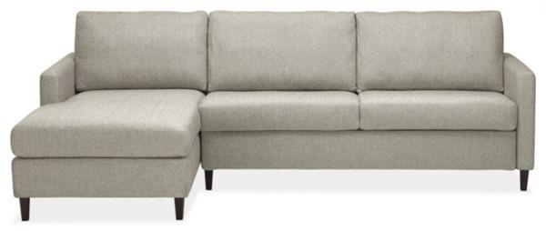 """Berin Thin Arm High 110"""" QN Sleeper Sofa w/Left-Arm Chaise"""