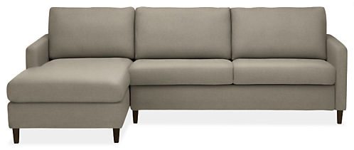 "Berin Thin Arm High 110"" QN Sleeper Sofa w/Left-Arm Chaise"