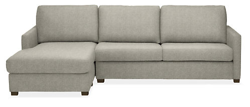 """Berin Slope Arm Low 105"""" QN Sleeper w/Left-Arm Chaise"""