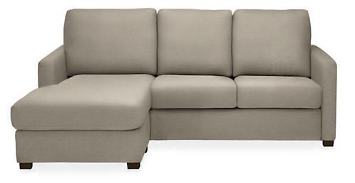 "Berin Thin Arm 78"" QP Sleeper w/Left-Arm Storage Chaise"