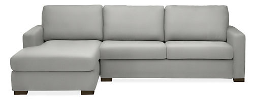 """Berin Wide Arm Low 109"""" Queen Sleeper with Left-Arm Chaise"""