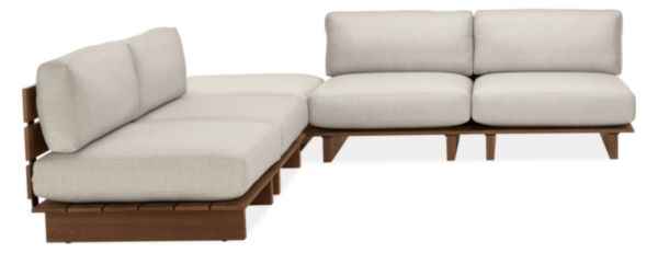 "Span Custom 108x108"" Five-Piece Modular Sectional with Ottoman"