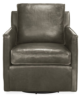 Bram Leather Swivel Chair - Accent Chairs - Modern Living Room ...