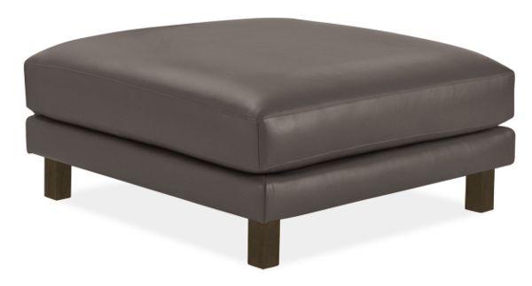 Enjoyable Cade Leather Ottoman Inzonedesignstudio Interior Chair Design Inzonedesignstudiocom
