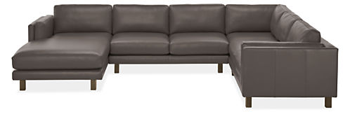 """Cade 146x112"""" Four-Piece Sectional with Left-Arm Chaise"""