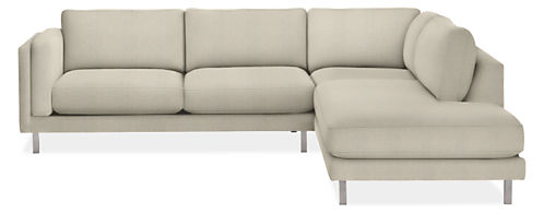 "Cade 112x107"" Three-Piece Sectional with Left-Back Sofa"
