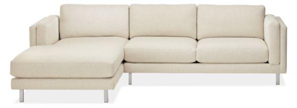 """Cade Custom 114"""" Sofa with Left-Arm Chaise"""