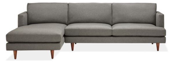 "Campbell Custom 110"" Sofa with Left-Arm Chaise"