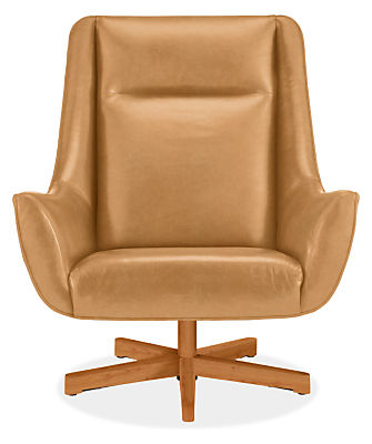 Charles Custom Swivel Chair with Wood Base