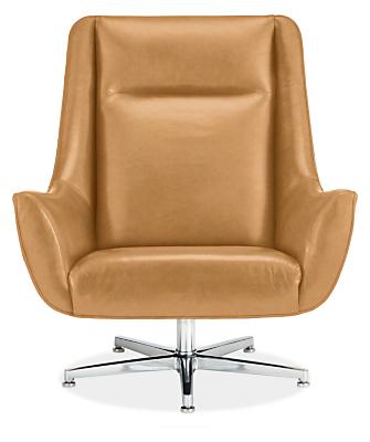 Charles Custom Swivel Chair with Aluminum Base