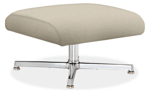 Charles Custom 24w 20d 14h Ottoman with Aluminum Base
