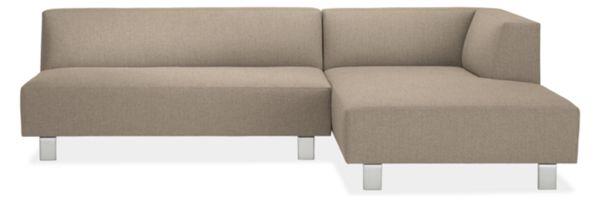 """Chelsea Custom 110"""" Armless Sofa with Left-Arm Chaise"""