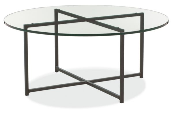 classic cocktail tables in natural steel - modern cocktail