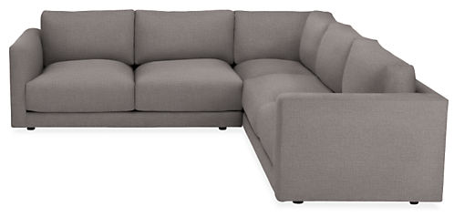 """Clemens 104x104"""" Three-Piece Sectional"""