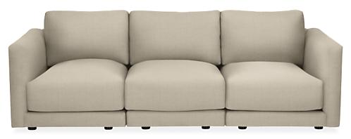 "Clemens Custom 107"" Three-Piece Modular Sofa"
