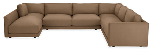 """Clemens 140x104"""" Four-Piece Sectional with Left-Arm Chaise"""