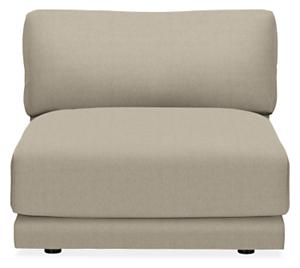 Clemens Custom Extra Deep Armless Chair