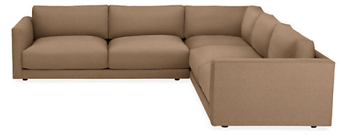 """Clemens Extra Deep 125x125"""" Three-Piece Sectional"""