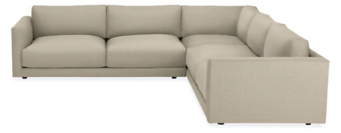 "Clemens Custom Extra Deep 125x125"" Three-Piece Sectional"