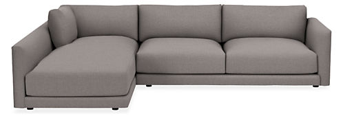 """Clemens Extra Deep 125"""" Sofa with Left-Arm Chaise"""