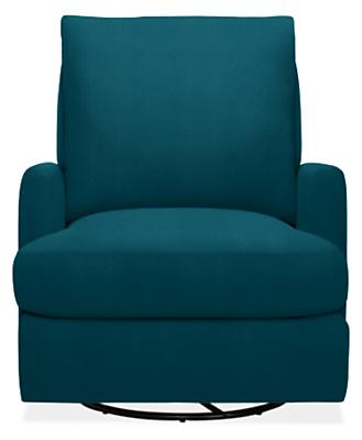 Colton Swivel Glider Chair & Ottoman in Vorto - Modern Accent ...