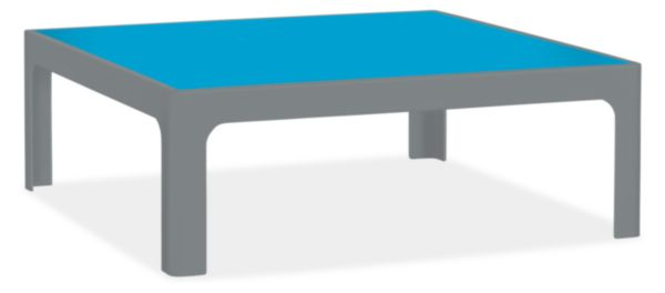 Crescent 37w 37d 13h Square Coffee Table
